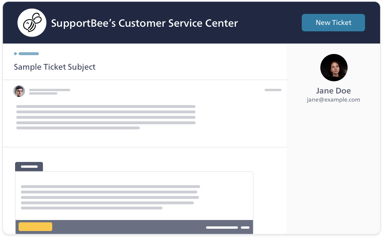 Your customers can send you new support tickets or reply to existing ones
