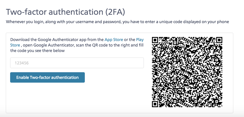 Secure your app with Two-factor authentication